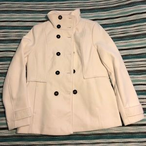 Black Rivet White Coat